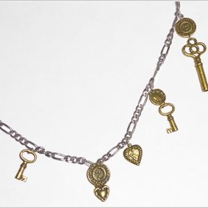 Tat2 Long Charm Necklace